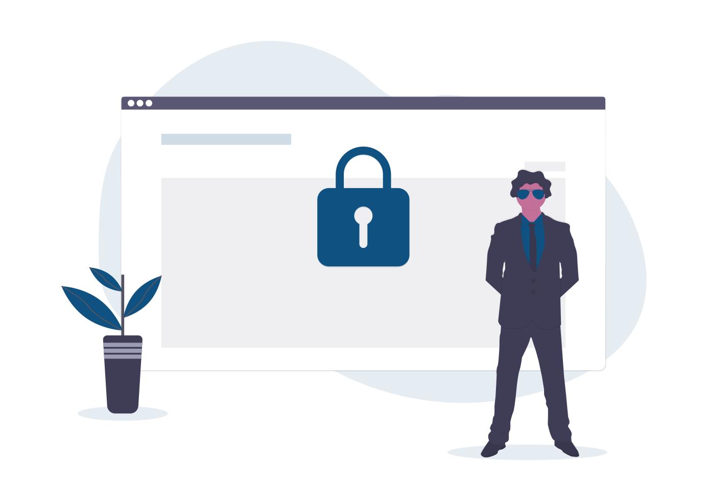 Webseiten für eine Sicherheitsfirma